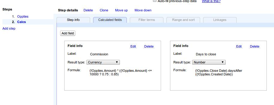 Calculated fields in multi-step reports - Apsona